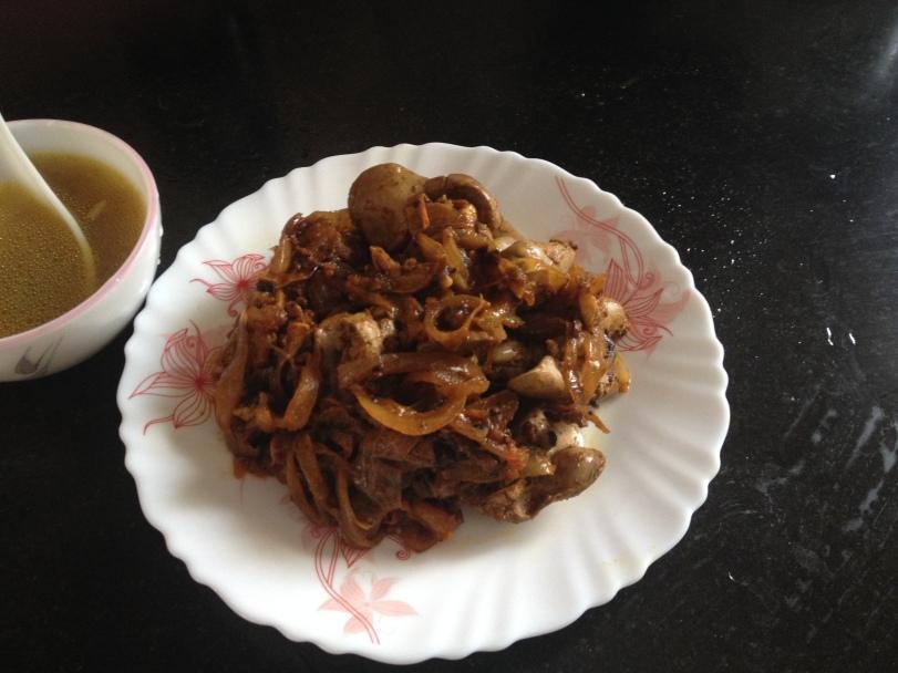 Chicken liver masala